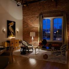 exposed brick, ambient lighting