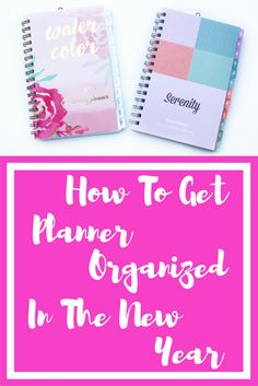 Organization always starts with the planner, at least in my opinion. If you have a place to write it all down, then you feel more organized and you can accomplish anything!