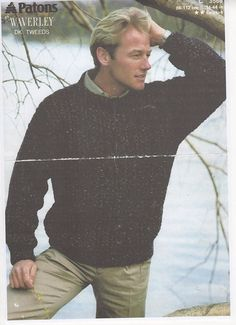 Mens Sweater Knitting pattern for mens sweater by AuntieBsMemories