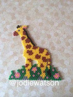 Giraffe hama bead / perler bead design made by myself