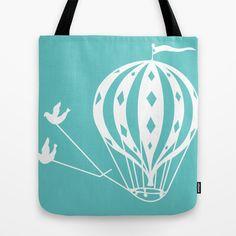 Pyrex+Hot+Air+Balloon+Tote+Bag+by+Daneisha+-+$22.00