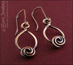 Twisted teardrop and rosebud knot earrings