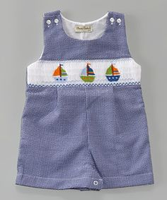 Loving this Blue & White Sailboat John Johns - Infant & Toddler on #zulily! #zulilyfinds
