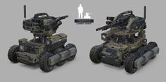 Designs for a game idea me and my friends are working on. Military Robot, Military Weapons, Military Art, Army Vehicles, Armored Vehicles, Robot Militar, Combat Robot, Gadget, Fighting Robots