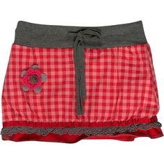"""Rokje met ruit patroon van het merk Kiezeltje Mini voor meisjes in de kleur roze. Het kledingstuk is uit de collectie """"Winter 2012/2013"""". Artikelnummer:K2422"""