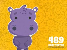 489 - Hippopotamus (To see them all click on the image)