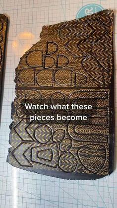 Black Earrings, Statement Earrings, Dangle Earrings, Metal Clay Jewelry, Precious Metal Clay, Gold Print, Polymer Clay Earrings, Clay Crafts, Boho Fashion