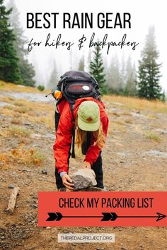 To my fellow hiking lovers out there! I've wrapped up the go-to hiking essentials for rainy weather. Don't let the rain stop you from your outdoor adventures! Get up and get out despite a dreary forecast with my best rain gear for hiking & backpacking during spring or fall. From the perfect rain jacket for hiking to top trail shoes or hiking boots, backpack rain cover, gloves, socks, etc… These 15 must-haves for hiking in the rain will ensure that you stay dry, I promise! Hiking Tips, Hiking Gear, Hiking Boots, Travel Reviews, Travel Info, Travel Usa, Travel Tips, Hiking In The Rain, Hiking Essentials