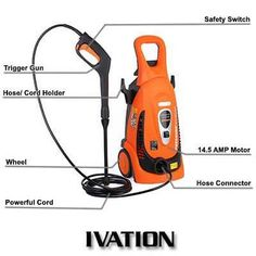 Ivation 2200 PSI 1.8 GPM Electric Pressure Washer Review Best Pressure Washer, Pressure Washers, Cord Holder, Safety Switch, Good To Know, Outdoor Power Equipment, Electric, Club, Top