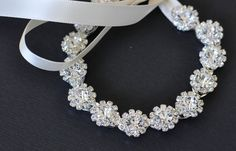 Ready To Ship-- Bridal Jewelry-- Rhinestone Wedding Bracelet--Ready To Ship. $26.00, via Etsy.