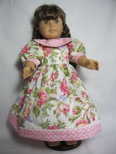 Rose Dress-Fit 18 Inch American Girl Doll Samantha and other American Girl Dolls. $10.00, via Etsy.