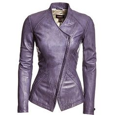 A fashion look from April 2013 featuring white cotton shirt, genuine leather jackets and purple leather purse. Browse and shop related looks. Chic Outfits, Fashion Outfits, Womens Fashion, Fashion Trends, Mode Rock, Stylish Jackets, Look Fashion, Fall Fashion, Leather Fashion