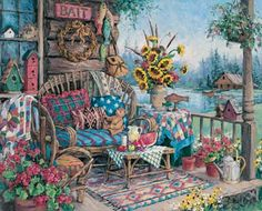 Barbara Mock ... Country Hideaway.. I have this awesome print!