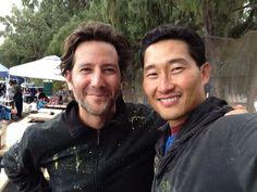 Daniel Dae Kim & Henry Ian Cusick   Happy Birthday Desmond! 4/19/2014
