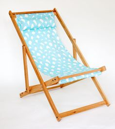 turquoise baby blue wave design trina turk outdoor fabric deck chair