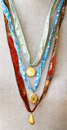 Zoey. silk ribbon bracelet,charm bracelet,ribbon necklace,wrap bracelet. Tiedupmemories
