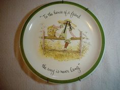 Holly Hobbie Plate From American greetings To the House of a Friend ---