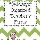 Getting organized is easy with this Editable Owl Themed Classroom Forms Pack.