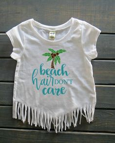 Beach Hair Don't Care Top, Girls' Beach Apparel, Girls' Fringe Top, Gifts For Girls, Girls' Summer Tops