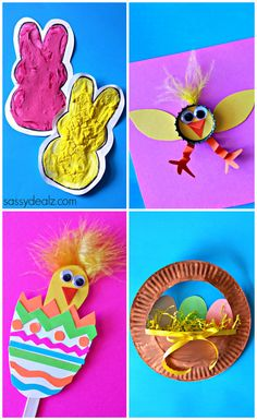 Easter Crafts for Kids! #DIY Bunnies, Easter eggs, Chicks, and more art projects! | CraftyMorning.com