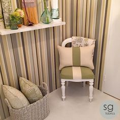 """We took this small, awkward space and transformed it into an """"Italian Garden"""" with some simple styling. Stuart Graham, Italian Garden, Designer Wallpaper, Step Guide, Small Spaces, Fabrics, Range, Throw Pillows, Fantasy"""