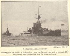 British Dreadnought Battleship (World War I) #worldwari