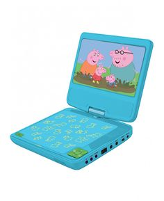 This cool Peppa Pig Portable DVD Player features a wide LCD screen, 2 stereo speakers and built in parental controls. Free UK delivery available