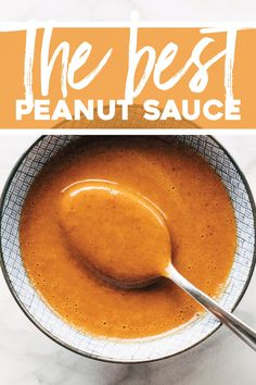 The Very Best Peanut Sauce Pinch of Yum The Very Best Peanut Sauce Smooth drizzle-able garlicky and gingery with a good spicy sesame kick Perfect for noodles salads protein or as a dipping sauce peanutsauce sauce mealprep Easy Sauce Recipe, Sauce Recipes, Vegetarian Recipes, Cooking Recipes, Healthy Recipes, Easy Recipes, Chutneys, Mets, Snacks