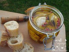 Chèvre mariné à l'huile d'olive et piment d'Espelette