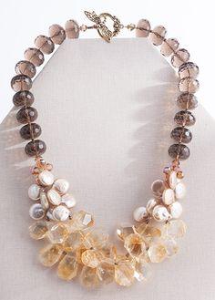 Citrine & Smokey Quartz Necklace