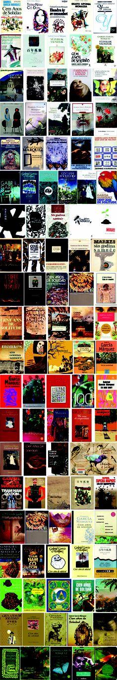 "100 covers for ""One hundred years of solitude"" by Gabriel García Márquez. And also in video!!! http://www.eraseunavezqueseera.com/2013/09/01/cien-portadas-para-cien-anos-de-soledad/"