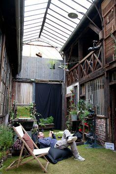 The indoor garden of the Shake Shake Shake #Barn, #Paris