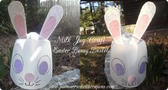 Milk Jug Easter Bunny Basket Kids Craft