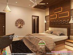 Modern Kerala interior designs November 2018 Bedroom Pop Design, Sofa Bed Design, Bedroom False Ceiling Design, Master Bedroom Interior, Bedroom Furniture Design, Bedroom Bed, Small Modern Bedroom, Staircase Design Modern, Double Bed Designs