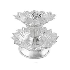 Jpearls Pure Silver Incense Sticks Stand for Pooja