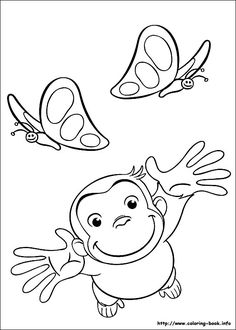 free printable Curious George coloring page
