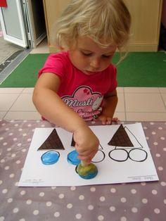Thema vakantie - ijsjes - bollen tellen - wiskundige initieatie - stempelen