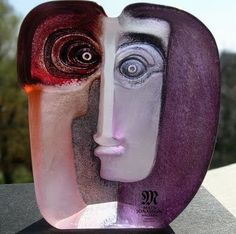 Glass sculpture by Mats Jonasson