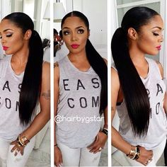 Top Quality Glueless Silky Straight full lace human hair wigs Pre Plucked , Brazilian full Lace Wigs Density For Blace Women Weave Ponytail, Sleek Ponytail, Ponytail Styles, Ponytail Hairstyles, Updos, Low Ponytails, Perfect Ponytail, Perfect Hairstyle, Curly Ponytail