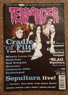 #Terrorizer Mag #29 Apr 96  #CradleofFilth #MiseryLovesCompany #Satyricon #BadReligion #Neurosis #Crossover2000 #Eyehategod #Sepultura #FaceDown #Elend #Shelter #Grope #Sadness #Manhole #metal #rock #blackmetal #thrash #doom #deathmetal