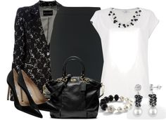 """""""Classy in Pearls"""" by pantherstyle ❤ liked on Polyvore"""