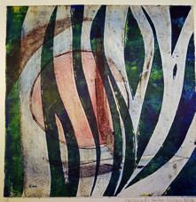 """Grass"" 30x30cm   inramad glas o ram 40x40cm  1900:-   Gudrun Alvebro"