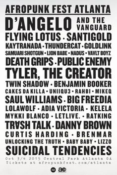 AFROPUNK Announces Inaugural Atlanta Festival With D'Angelo, Flying Lotus, Death Grips, Santigold, Danny Brown - Stereogum