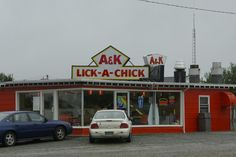 Cape Breton, Nova Scotia my homeland.  Every tourist needs a photo in front of the Lick a Chick!!