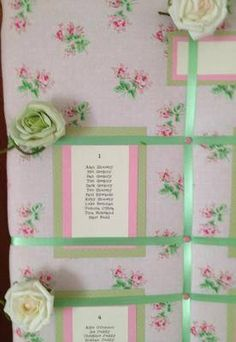 Example 8 - Cath Kidston Rose Sprig Wedding Seating / Table Plan