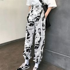 For Sale - Women Pants Loose Sports Casual Beam Foot Harem Pants Comics Printed Joggers Pants Mens Hip Hop Casual Trousers Look Fashion, Fashion Pants, Fashion Outfits, Ski Fashion, Fashion Spring, Sporty Fashion, Fashion Women, Latest Fashion, Winter Fashion