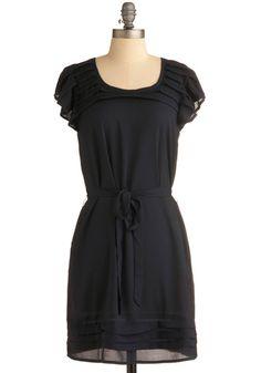 Black chiffon dress, $49.99