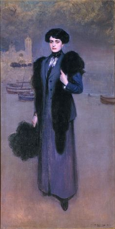 The Athenaeum - Portrait of Dolors Vidal (Ramon Casas y Carbó - )