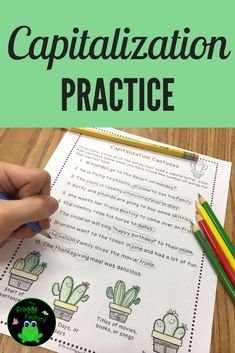 This resource includes capitalization M.I.N.T.S. posters and 4 NO PREP worksheets.The worksheets practice correcting months, days, holidays, names, geographic names, product names, and titles. They are great to use as homework, morning work, classwork, stations, or for interactive notebooks. #tpt #language #languagearts