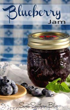 Blueberry Preserves Recipes, Blueberry Syrup, Blueberry Recipes Canning, Strawberry Blueberry Jam, Blueberry Freezer Jam, Strawberry Preserves, Blueberry Desserts, Homemade Jelly, Homemade Blueberry Jelly Recipe